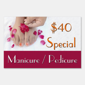 Manicure Pedicure Nail Salon Sign