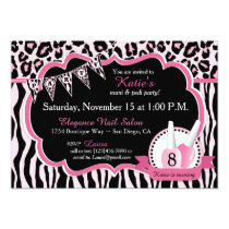 Manicure & Pedicure Spa Party Birthday Invitation