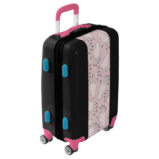 Manicured Hands Nail Studio Pink Pastel Pattern Luggage