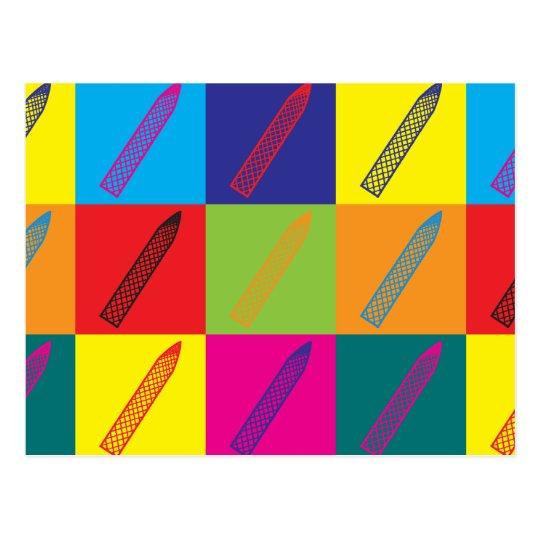 Manicures Pop Art Postcard