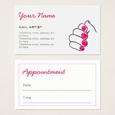 Professional Business Manicurist Appointment Business Cards