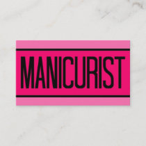 Manicurist Baby and Hot Pink Business Card