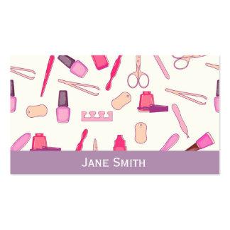 Manicurist, Nail Artist, Nail Technician freelance Business Card