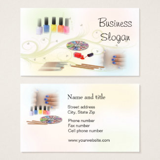 Manicurist Nail Stylist Connect with Your Customer Business Card