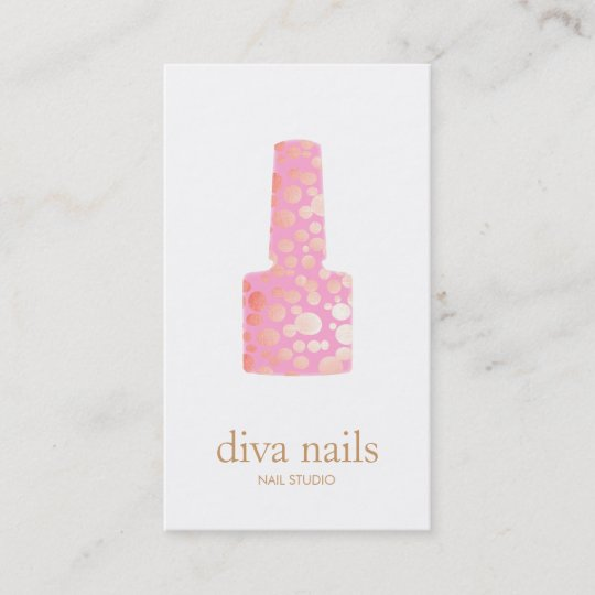 Manicurist pink nail polish bottle nail salon logo business card manicurist pink nail polish bottle nail salon logo business card colourmoves