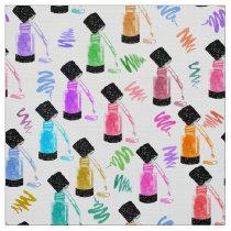 Manicurist Rainbow Nail Polish Glitter Watercolor Fabric