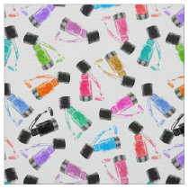 Manicurist Rainbow Nail Polish Watercolor Fabric