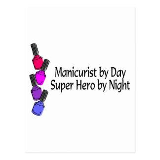 Manicurist Super Hero Postcard