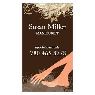 MANICURIST Vertical Business Card profilecard