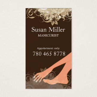 MANICURIST Vertical Business Card