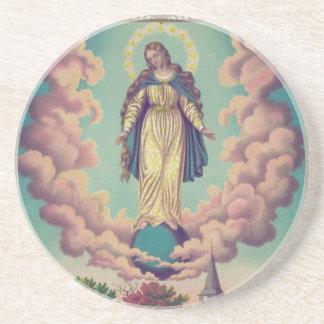 Manifestaciones milagrosas del Virgen María 1879 Posavasos Cerveza