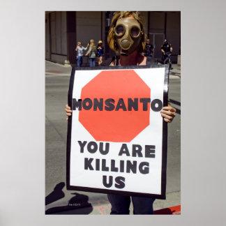 Manifestante de Monsanto Póster