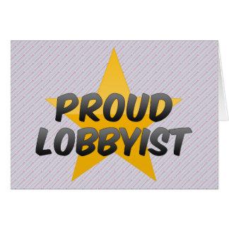 Manifestante orgulloso tarjeta de felicitación