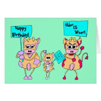Manifestantes animales; ¡Feliz cumpleaños! , Tarjeta De Felicitación