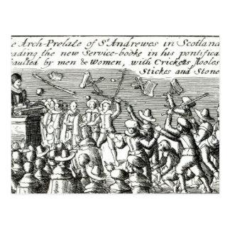 Manifestantes en Edimburgo, 1637 Postal