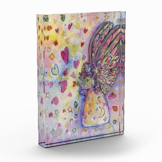 Manifesting Angel Art Paperweight Acrylic Award