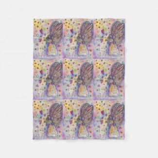 Manifesting Universe Angel Art Fleece Blankets