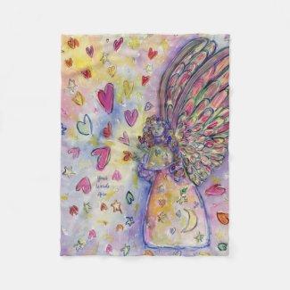 Manifesting Universe Angel Custom Fleece Blankets