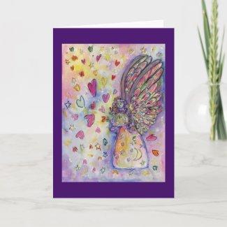 Manifesting Universe Angel Custom Greeting Card
