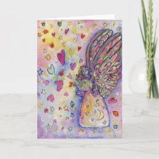 Manifesting Universe Angel Custom Greeting Cards