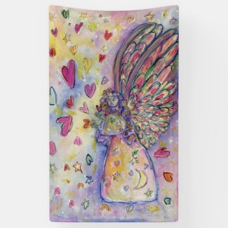Manifesting Universe Angel Hearts Custom Banners
