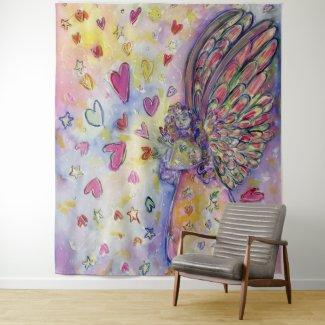 Manifesting Universe Angel Tapestry Wall Art Decor
