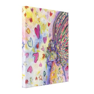 Manifesting Universe Angel Wrapped Canvas Painting