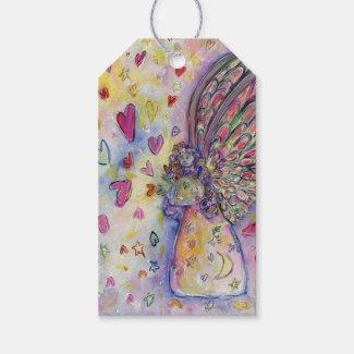Manifesting Universe Guardian Angel Art Gift Tags