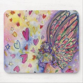 Manifesting Universe Guardian Angel Art Mouse Pad
