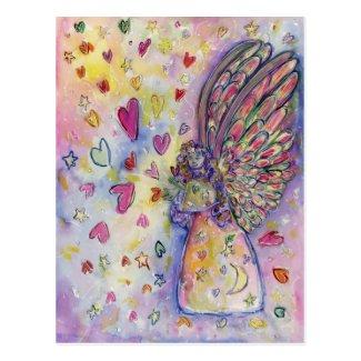Manifesting Universe Guardian Angel Art Postcard