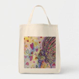 Manifesting Universe Guardian Angel Art Tote Bags