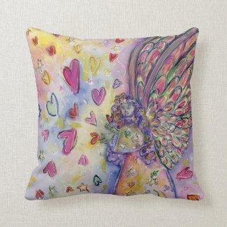 Manifesting Universe Guardian Angel Throw Pillow