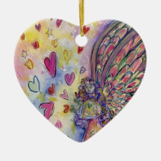 Manifesting Universe Love Angel Holiday Ornament