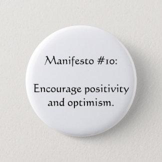 Manifesto #10 pinback button