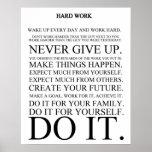 Manifiesto del trabajo duro impresiones