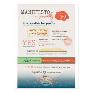 Manifiesto inspirado postal