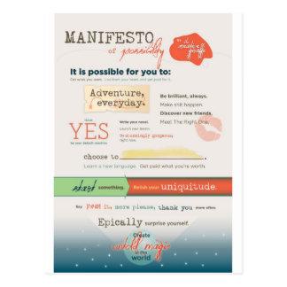 Manifiesto inspirado postales