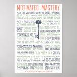 Manifiesto motivado de la maestría (pulgadas 11x16 posters