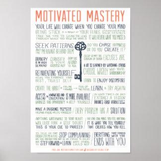 Manifiesto motivado de la maestría (pulgadas 11x16 póster