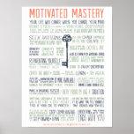 Manifiesto motivado de la maestría (pulgadas 18x24 posters