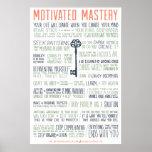 Manifiesto motivado de la maestría (pulgadas 24x36 poster