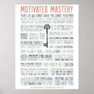 Manifiesto motivado de la maestría (pulgadas póster