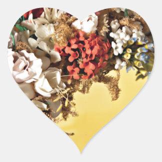 Manija de la cesta de la flor de la cera pegatinas