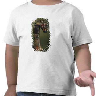 Manija de la daga bajo la forma de cabeza de cabal camisetas