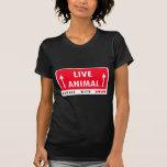 Manija del pegatina del animal vivo con amor camisetas