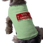 Manija del pegatina del animal vivo con amor camiseta de mascota