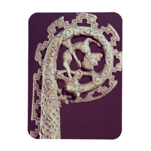 Manija tallada del ladrón de un obispo, hueso imán flexible
