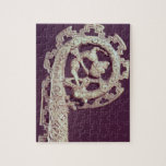Manija tallada del ladrón de un obispo, hueso rompecabezas