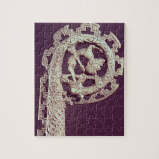 Manija tallada del ladrón de un obispo, hueso puzzles con fotos