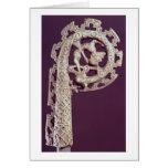 Manija tallada del ladrón de un obispo, hueso felicitación